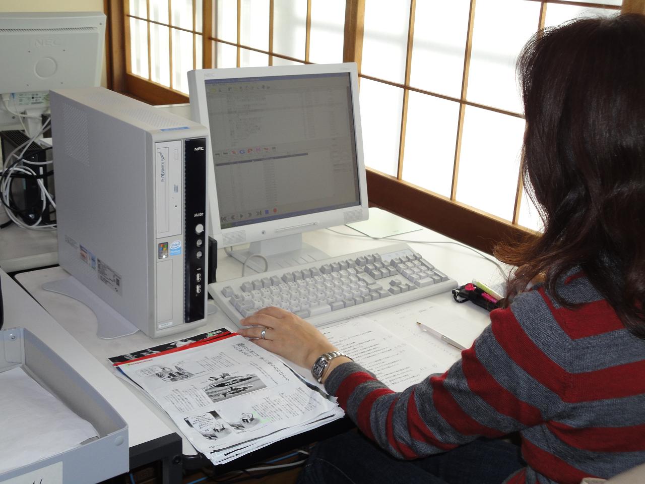 パソコンでデイジーCDに編集している画像